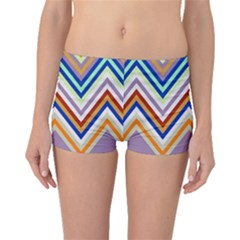 Chevron Wave Color Rainbow Triangle Waves Grey Boyleg Bikini Bottoms