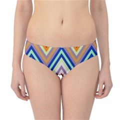 Chevron Wave Color Rainbow Triangle Waves Grey Hipster Bikini Bottoms