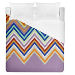 Chevron Wave Color Rainbow Triangle Waves Grey Duvet Cover (queen Size)