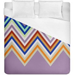 Chevron Wave Color Rainbow Triangle Waves Grey Duvet Cover (king Size)