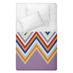 Chevron Wave Color Rainbow Triangle Waves Grey Duvet Cover (single Size) by Alisyart