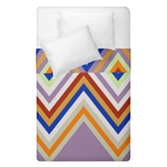 Chevron Wave Color Rainbow Triangle Waves Grey Duvet Cover Double Side (single Size)