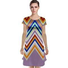 Chevron Wave Color Rainbow Triangle Waves Grey Cap Sleeve Nightdress