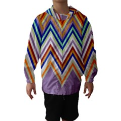 Chevron Wave Color Rainbow Triangle Waves Grey Hooded Wind Breaker (kids)