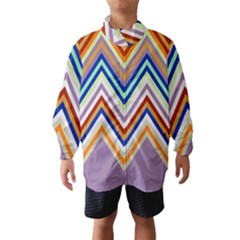 Chevron Wave Color Rainbow Triangle Waves Grey Wind Breaker (kids)