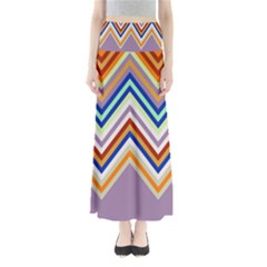 Chevron Wave Color Rainbow Triangle Waves Grey Maxi Skirts