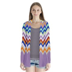 Chevron Wave Color Rainbow Triangle Waves Grey Cardigans