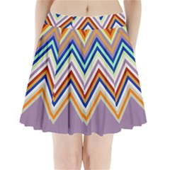 Chevron Wave Color Rainbow Triangle Waves Grey Pleated Mini Skirt