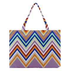 Chevron Wave Color Rainbow Triangle Waves Grey Medium Tote Bag