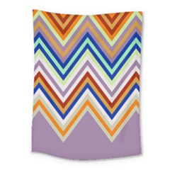 Chevron Wave Color Rainbow Triangle Waves Grey Medium Tapestry