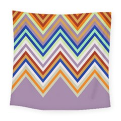 Chevron Wave Color Rainbow Triangle Waves Grey Square Tapestry (large)