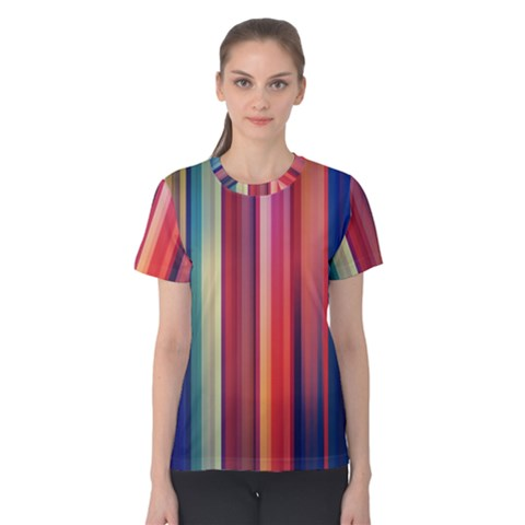 Texture Lines Vertical Lines Women s Cotton Tee by Simbadda