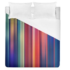 Texture Lines Vertical Lines Duvet Cover (queen Size) by Simbadda