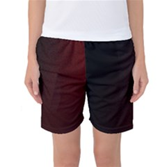 Abstract Dark Simple Red Women s Basketball Shorts