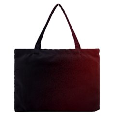 Abstract Dark Simple Red Medium Zipper Tote Bag by Simbadda