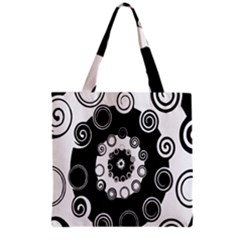Fluctuation Hole Black White Circle Grocery Tote Bag
