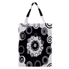 Fluctuation Hole Black White Circle Classic Tote Bag