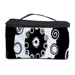Fluctuation Hole Black White Circle Cosmetic Storage Case