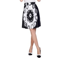Fluctuation Hole Black White Circle A-line Skirt by Alisyart