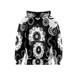 Fluctuation Hole Black White Circle Kids  Pullover Hoodie