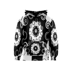 Fluctuation Hole Black White Circle Kids  Zipper Hoodie
