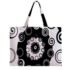 Fluctuation Hole Black White Circle Zipper Mini Tote Bag