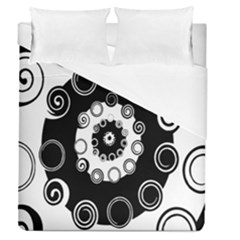 Fluctuation Hole Black White Circle Duvet Cover (queen Size)