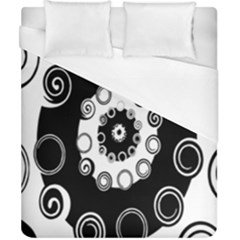 Fluctuation Hole Black White Circle Duvet Cover (california King Size)
