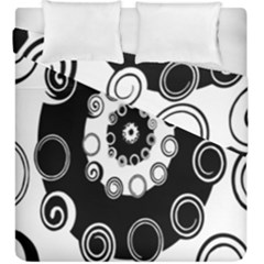 Fluctuation Hole Black White Circle Duvet Cover Double Side (king Size)