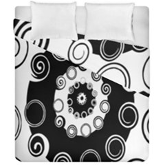 Fluctuation Hole Black White Circle Duvet Cover Double Side (california King Size)
