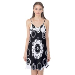 Fluctuation Hole Black White Circle Camis Nightgown