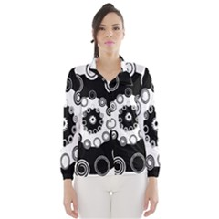 Fluctuation Hole Black White Circle Wind Breaker (women)