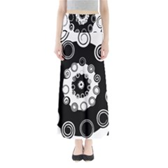 Fluctuation Hole Black White Circle Maxi Skirts