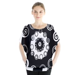 Fluctuation Hole Black White Circle Blouse