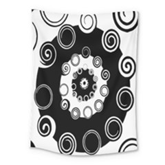 Fluctuation Hole Black White Circle Medium Tapestry