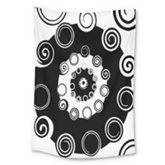 Fluctuation Hole Black White Circle Large Tapestry
