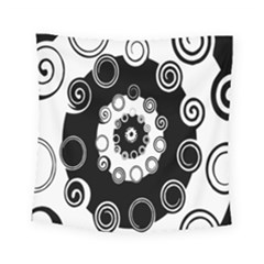 Fluctuation Hole Black White Circle Square Tapestry (small)
