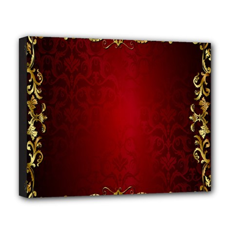 3d Red Abstract Pattern Deluxe Canvas 20  X 16   by Simbadda