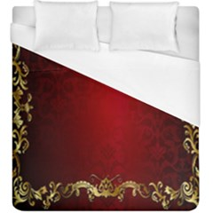 3d Red Abstract Pattern Duvet Cover (king Size)
