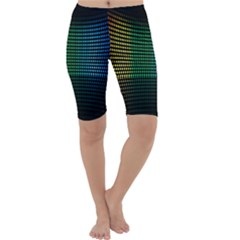 Abstract Multicolor Rainbows Circles Cropped Leggings