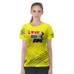 Love Ride Bike Fitness Women s Sport Mesh Tee by PattyVilleDesigns