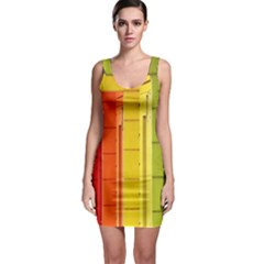 Abstract Minimalism Architecture Sleeveless Bodycon Dress