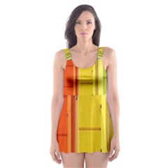 Abstract Minimalism Architecture Skater Dress Swimsuit by Simbadda