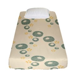 Flower Floral Pink Fitted Sheet (single Size)