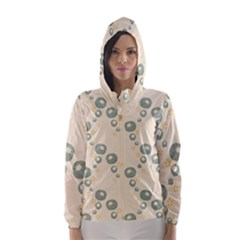 Flower Floral Pink Hooded Wind Breaker (women)