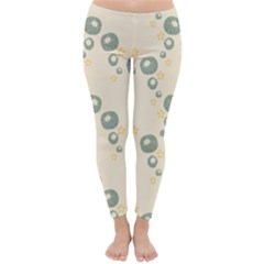 Flower Floral Pink Classic Winter Leggings