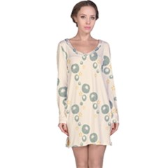 Flower Floral Pink Long Sleeve Nightdress