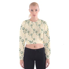 Flower Floral Pink Women s Cropped Sweatshirt