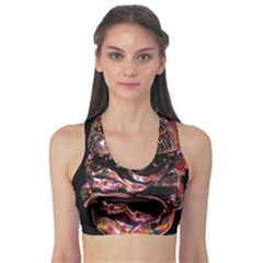 Hamburgers Digital Art Colorful Sports Bra by Simbadda