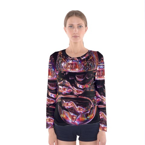Hamburgers Digital Art Colorful Women s Long Sleeve Tee by Simbadda